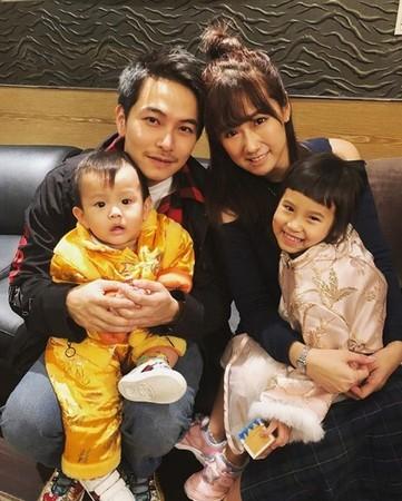 ▲方志友與楊銘威婚後育有一對兒女。(圖/翻攝自方志友Instagram)