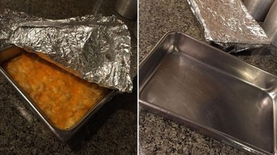 「二手餐盤」焗烤通心粉 底下文字讓她嚇到不敢吃 網:可能裝過器官