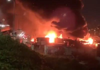 大阪倉庫爆炸陷火海 1死3重傷