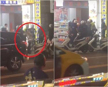 騎單車用手機遭攔 爆衝哥飆警三字經還拒捕