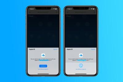 iOS 13可用新辨識系統登入iCloud