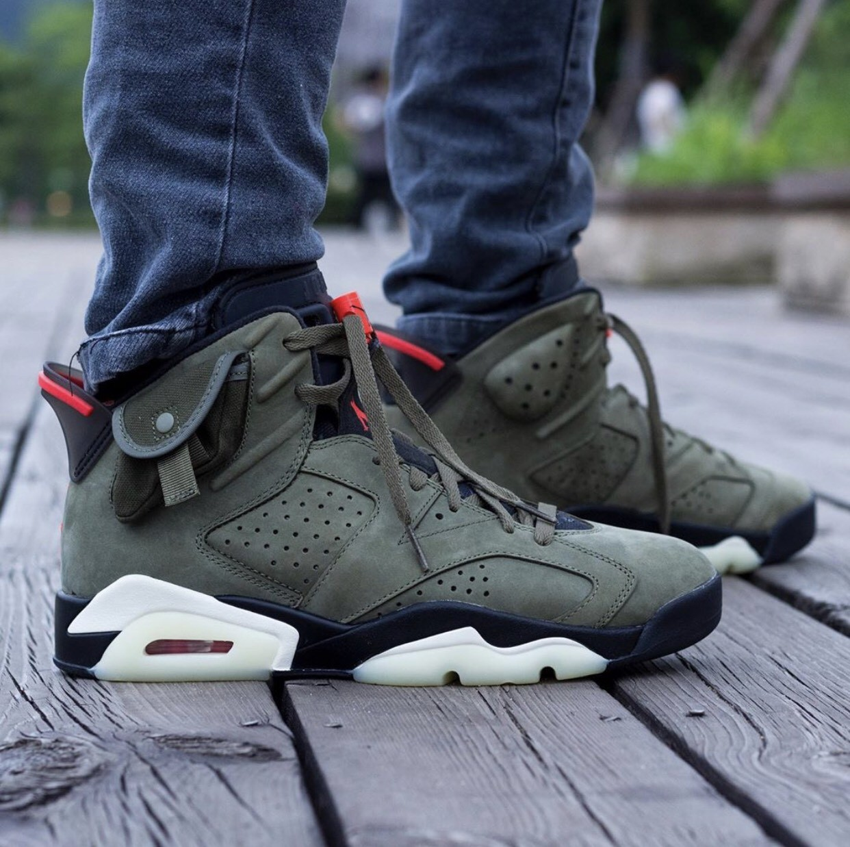 ▲Travis Scott X Air Jordan 6。(圖/翻攝自IG@hanzuying、Nike)