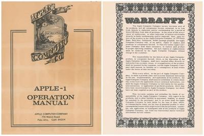 第一代「Apple I」操作手冊 網拍喊價1萬美元!