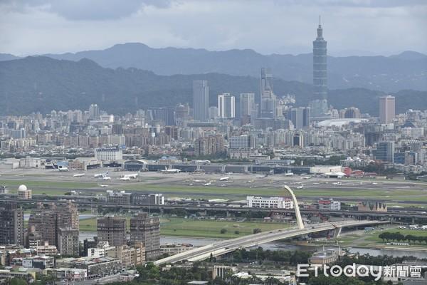 ▲▼大直橋,大直,松山機場鳥瞰。(圖/記者湯興漢攝)