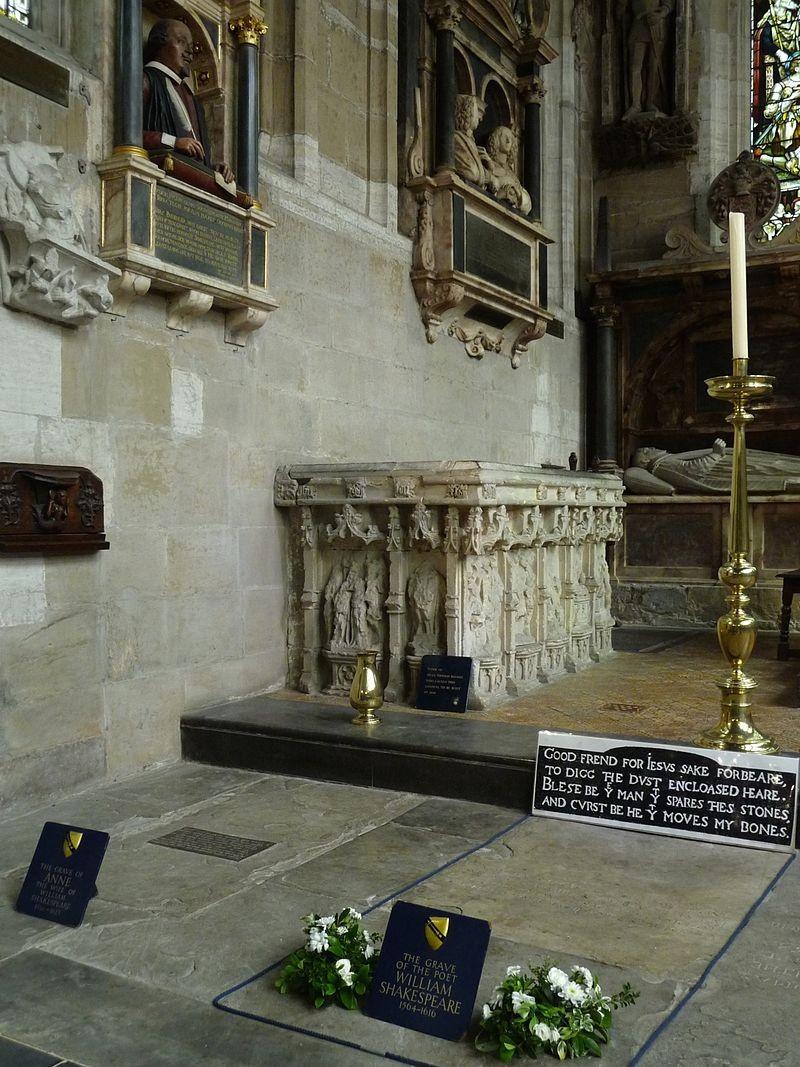 ▲▼莎士比亞墳墓。(圖/翻攝自維基百科)