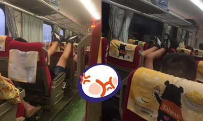 台鐵上目睹大抬腳!「11字→ㄍ字」網火翻