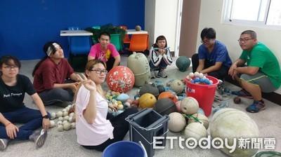 台東青年海廢浮球大改造 桃園機場展示
