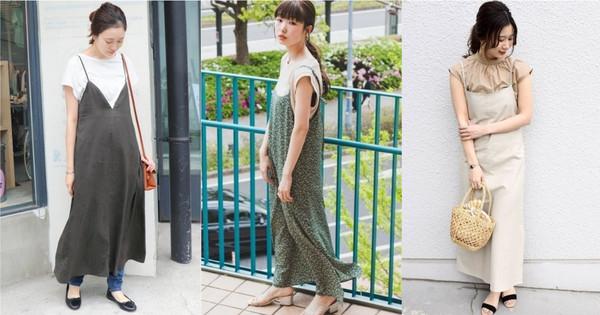 看日本女生简单穿出时髦感!夏季轻盈层次就交给「细肩带洋装」