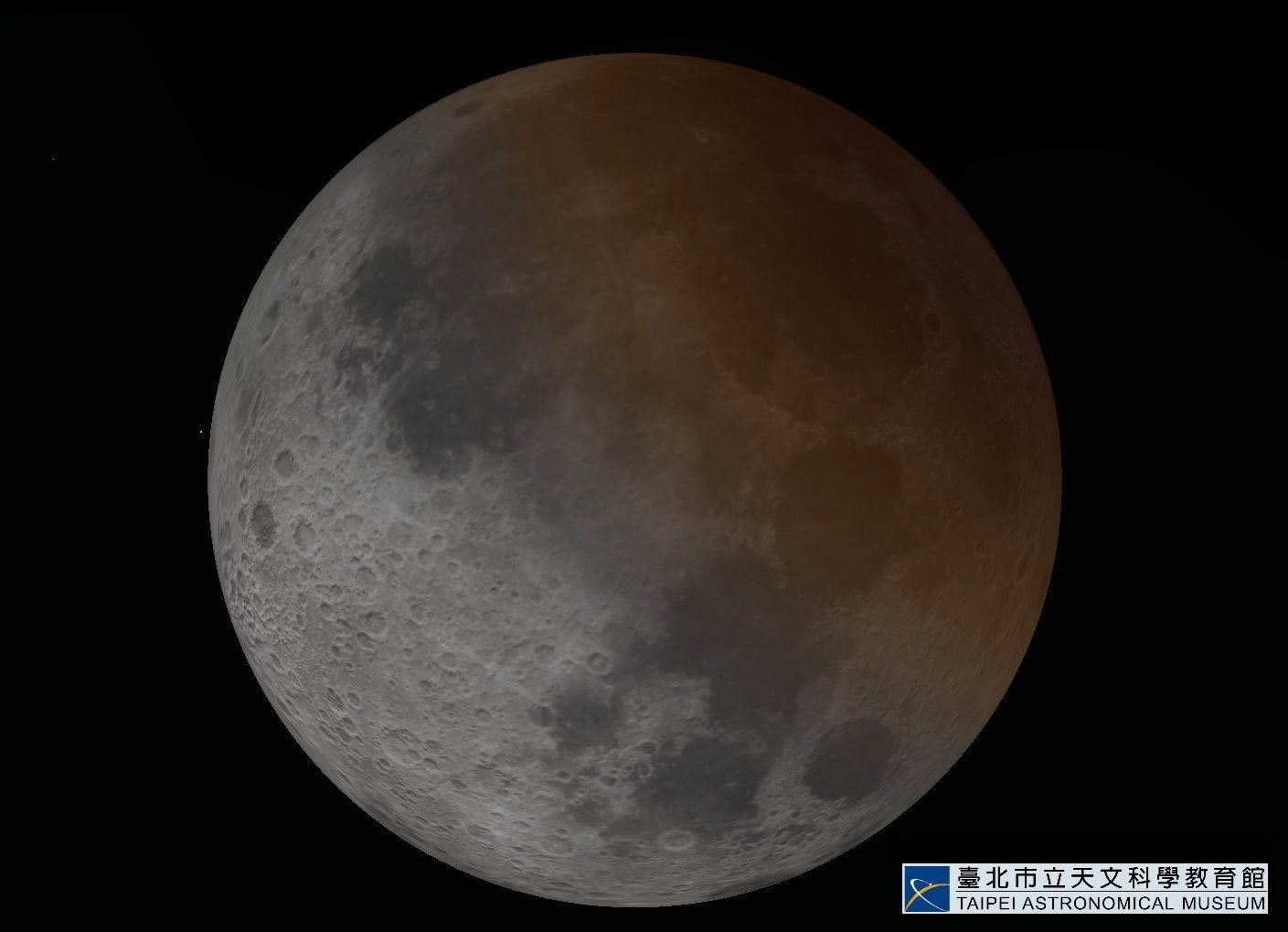 ▲▼月偏食。(圖/台北市天文館提供)