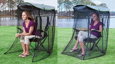 老佛爺款露營椅「自帶垂簾蚊帳」 踏青一扛就能坐看山海大局