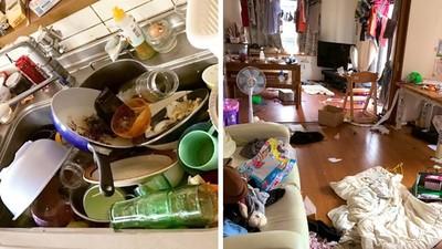 發燒三天沒做家事「像被核彈炸過」!地方媽媽拍下慘況,哭完只能彎腰清理