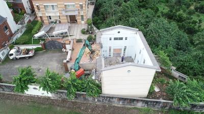 韓國瑜古坑爭議農舍再拆圍牆大門