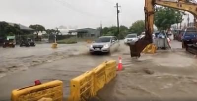 韓市府花400萬清淤 神農路再度慘淹