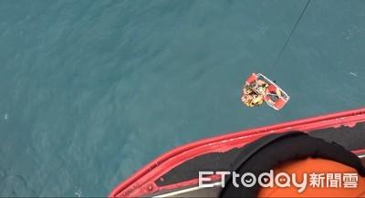 船長昏倒 直升機吊掛飛回松山機場