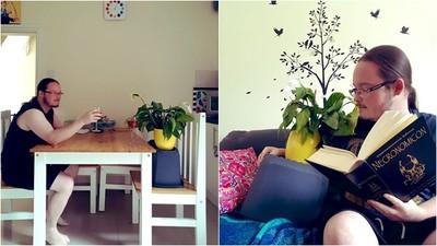 暖心室友幫照顧五株寶貝植物 幾天後收到照片...陪玩陪吃還說故事呢