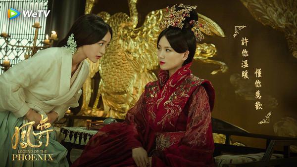 ▲曹曦文(右)與何泓姍在WeTV《鳳奕》上演閨蜜情。(圖/WeTV提供)