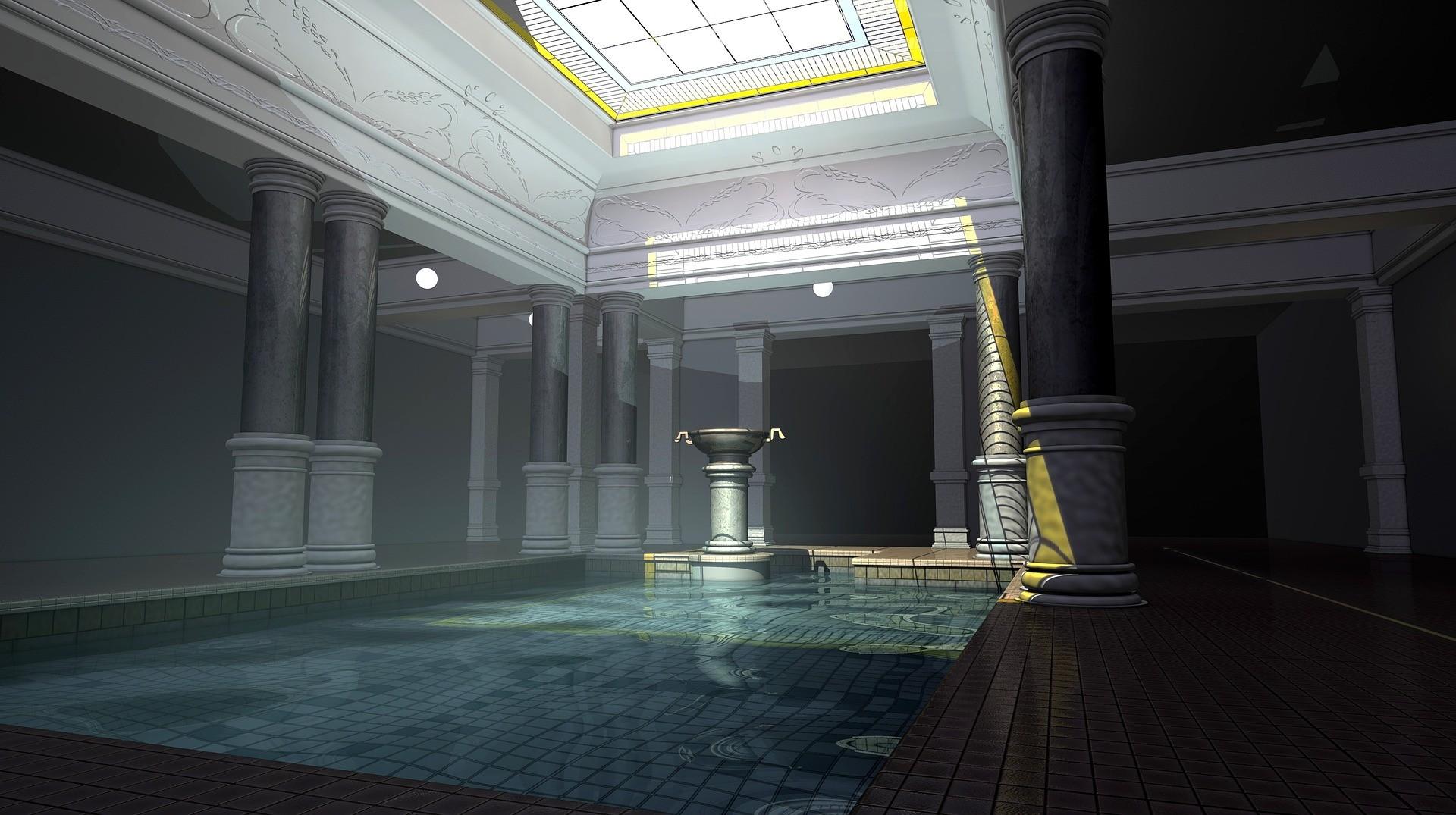▲SPA,游泳池,豪宅。(圖/取自免費圖庫Pixabay)