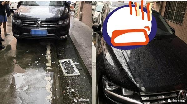 博美犬6樓墜下「砸中黑色轎車」....擋風玻璃碎成蜘蛛網 飼主:牠自己跳的