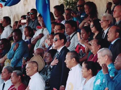 吉里巴斯獨立40週年慶典奏我國歌