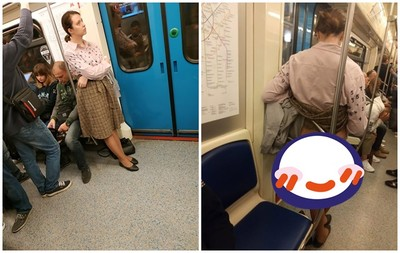 地鐵大媽上車逼讓位遭拒 脫底褲露黑森林抗議