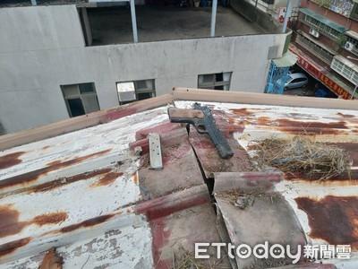 工人屋頂抓漏 隔板竟抓出「大雞腿」