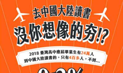 陸委會發片勸畢業生:赴陸唸書才0.16%