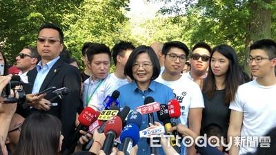 影/蔡英文高喊「台灣第一名」下秒女嬰爆哭