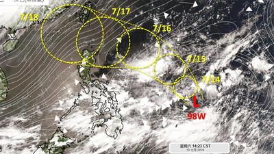 5號颱風「丹娜絲」不排除本周生成 周三起變天