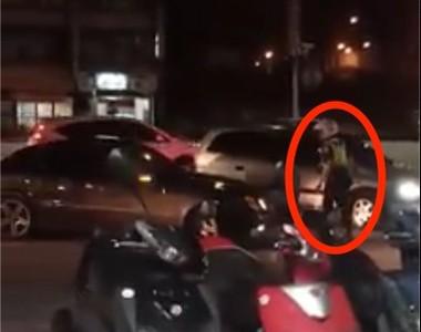 賓士車拒檢企圖撞警 網嘆台灣警察真可憐