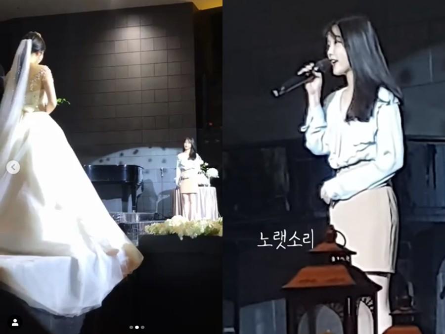 ▲IU到釜山開演唱會都會透過IG聯繫金海姐妹。(圖/翻攝自金彩恩IG、노랫소리YouTube)