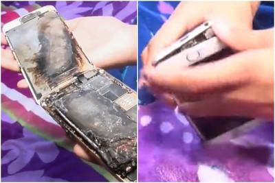 iPhone 6噴出火花 差點燒到11歲女童