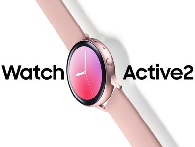三星Watch Active 2玫瑰金現身