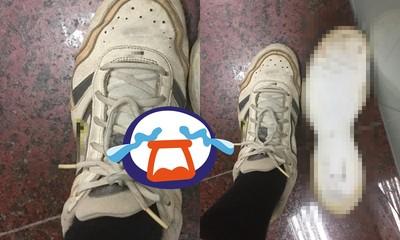 翻出10年前潮鞋!他重穿出門「2隻全爆」