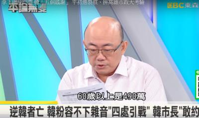 60歲老人有490萬 郭正亮點破韓選戰重點