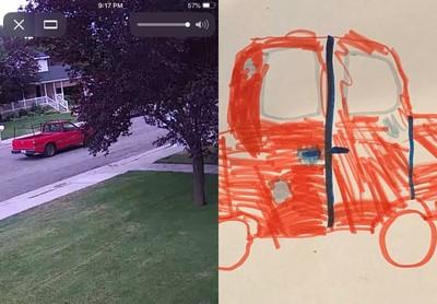 9歲神童畫竊賊車 連凹痕都還原