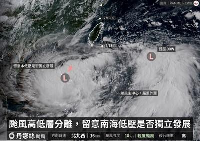 雙颱夾擊台灣?「恐挾大量豪雨」降雨熱區曝