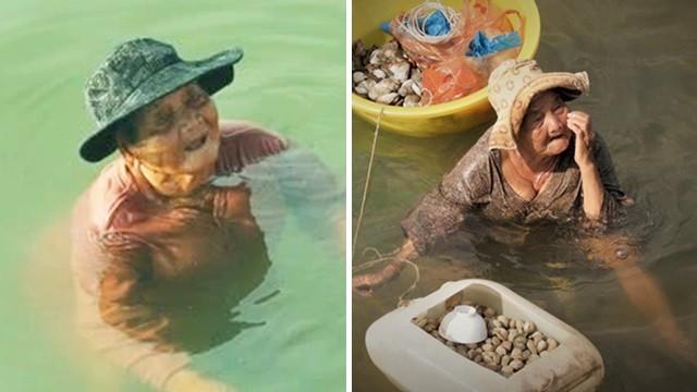 撿貝類養精障女兒!85歲奶奶「海水泡太久皮膚乾裂」 窮苦仍樂觀愛笑
