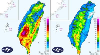 15縣市豪大雨!丹娜絲撲日韓「南海低壓水氣更多」