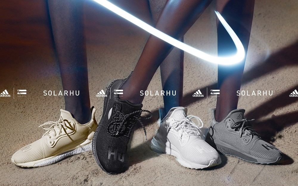 ▲Adidas X Pharrell Williams Solarhu聯名系列。(圖/品牌提供、翻攝自Sneakernews)