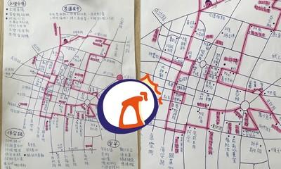 吃貨手繪台南地圖 千人秒存:照這張去玩