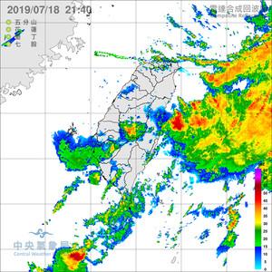南投以南5縣市大雨特報 南海低壓接力到