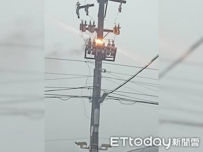林園電線桿火花大寮停電