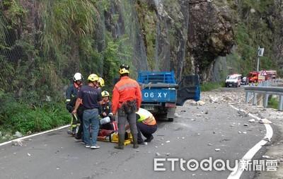 中橫便道施工車遭巨石砸中1死