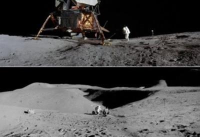 NASA釋出「太空人登月」高清照 死寂感超驚悚