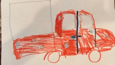 9歲女童目睹盜竊現場!塗鴉神還原竊賊卡車 警方:連凹痕都畫出來