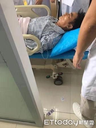 ▲任達華送醫照片。(圖/廖寶軍提供)