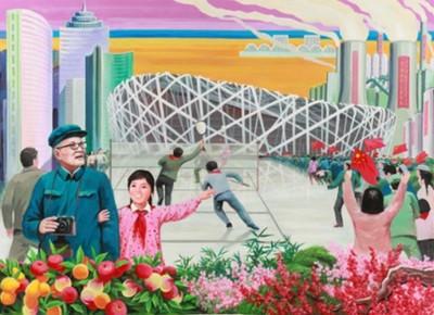 北韓畫家筆下的中國,這違和感...