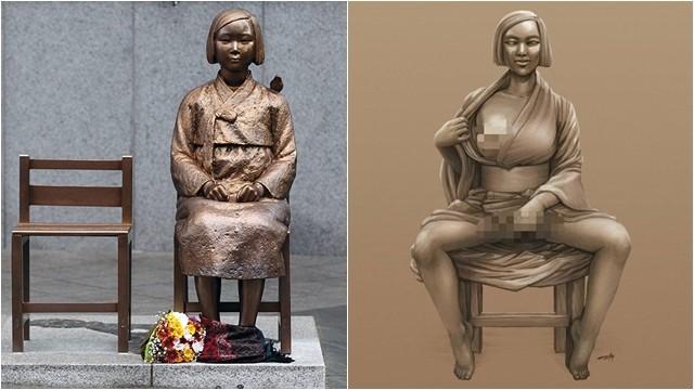 慰安婦撫胸開腿...日本右翼合成照一秒激怒韓國人 5年前舊照再掀怒火
