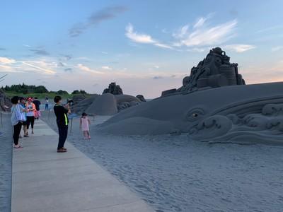 大安沙雕季落幕 18座沙雕自然風化不修復