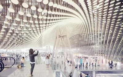 桃機第三航廈簡化設計 擬取消波浪屋頂